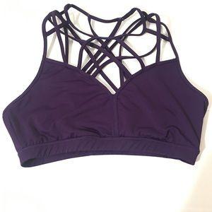 Kyodan purple cage strappy sports bra size L